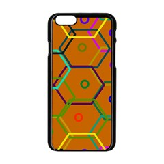 Color Bee Hive Color Bee Hive Pattern Apple iPhone 6/6S Black Enamel Case