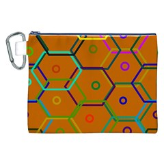 Color Bee Hive Color Bee Hive Pattern Canvas Cosmetic Bag (XXL)