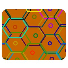 Color Bee Hive Color Bee Hive Pattern Double Sided Flano Blanket (Medium)