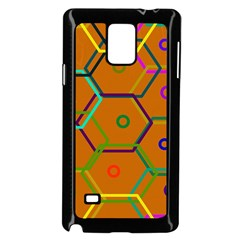 Color Bee Hive Color Bee Hive Pattern Samsung Galaxy Note 4 Case (Black)