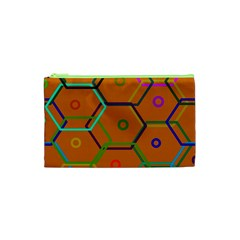 Color Bee Hive Color Bee Hive Pattern Cosmetic Bag (XS)