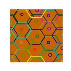 Color Bee Hive Color Bee Hive Pattern Small Satin Scarf (Square)