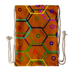 Color Bee Hive Color Bee Hive Pattern Drawstring Bag (Large)