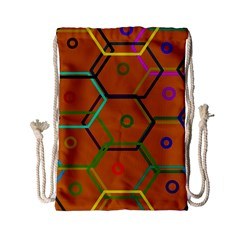 Color Bee Hive Color Bee Hive Pattern Drawstring Bag (Small)