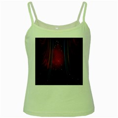 Bright Background With Stars And Air Curtains Green Spaghetti Tank
