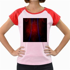 Bright Background With Stars And Air Curtains Women s Cap Sleeve T Shirt