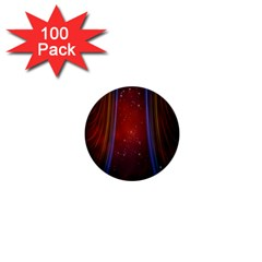 Bright Background With Stars And Air Curtains 1  Mini Buttons (100 pack)