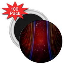 Bright Background With Stars And Air Curtains 2 25  Magnets (100 Pack)