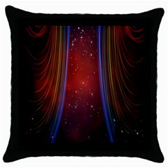 Bright Background With Stars And Air Curtains Throw Pillow Case (black)