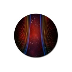 Bright Background With Stars And Air Curtains Magnet 3  (Round)