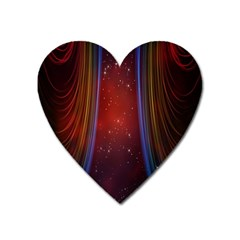 Bright Background With Stars And Air Curtains Heart Magnet