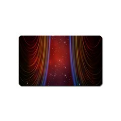 Bright Background With Stars And Air Curtains Magnet (Name Card)
