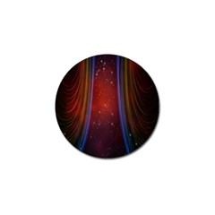 Bright Background With Stars And Air Curtains Golf Ball Marker