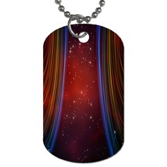 Bright Background With Stars And Air Curtains Dog Tag (two Sides)