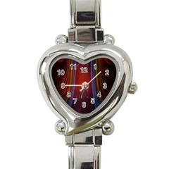 Bright Background With Stars And Air Curtains Heart Italian Charm Watch