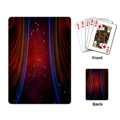 Bright Background With Stars And Air Curtains Playing Card