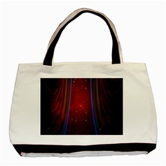 Bright Background With Stars And Air Curtains Basic Tote Bag