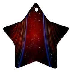 Bright Background With Stars And Air Curtains Star Ornament (two Sides)