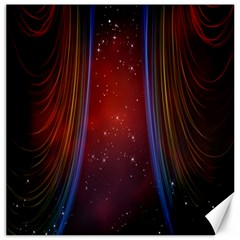 Bright Background With Stars And Air Curtains Canvas 12  x 12