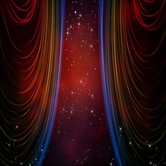 Bright Background With Stars And Air Curtains Canvas 20  x 20