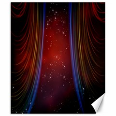Bright Background With Stars And Air Curtains Canvas 20  X 24