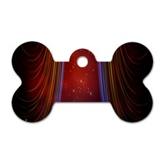Bright Background With Stars And Air Curtains Dog Tag Bone (One Side)
