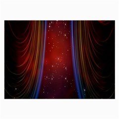 Bright Background With Stars And Air Curtains Large Glasses Cloth (2-Side)