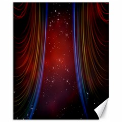 Bright Background With Stars And Air Curtains Canvas 11  x 14