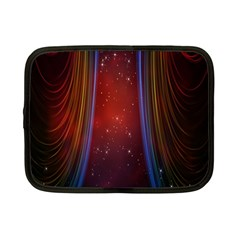 Bright Background With Stars And Air Curtains Netbook Case (Small)