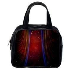 Bright Background With Stars And Air Curtains Classic Handbags (One Side)