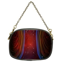 Bright Background With Stars And Air Curtains Chain Purses (one Side)