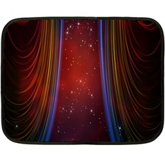 Bright Background With Stars And Air Curtains Fleece Blanket (Mini)