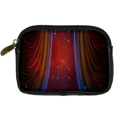 Bright Background With Stars And Air Curtains Digital Camera Cases