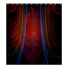 Bright Background With Stars And Air Curtains Shower Curtain 66  X 72  (large)