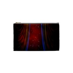 Bright Background With Stars And Air Curtains Cosmetic Bag (Small)