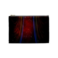 Bright Background With Stars And Air Curtains Cosmetic Bag (Medium)