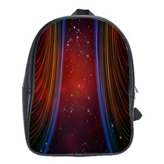 Bright Background With Stars And Air Curtains School Bags(large)