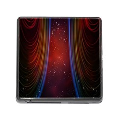 Bright Background With Stars And Air Curtains Memory Card Reader (Square)