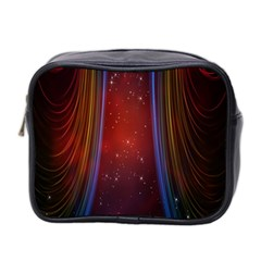 Bright Background With Stars And Air Curtains Mini Toiletries Bag 2 Side