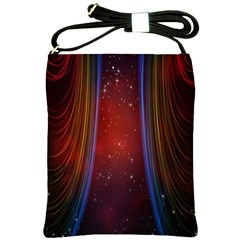 Bright Background With Stars And Air Curtains Shoulder Sling Bags