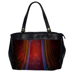 Bright Background With Stars And Air Curtains Office Handbags (2 Sides)