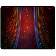 Bright Background With Stars And Air Curtains Fleece Blanket (medium)