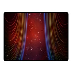 Bright Background With Stars And Air Curtains Fleece Blanket (small)