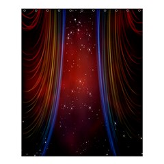 Bright Background With Stars And Air Curtains Shower Curtain 60  x 72  (Medium)