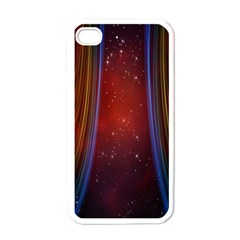 Bright Background With Stars And Air Curtains Apple iPhone 4 Case (White)