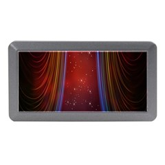 Bright Background With Stars And Air Curtains Memory Card Reader (Mini)