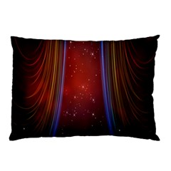 Bright Background With Stars And Air Curtains Pillow Case (two Sides)