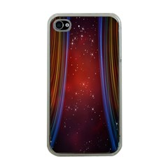 Bright Background With Stars And Air Curtains Apple Iphone 4 Case (clear)