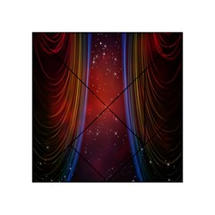 Bright Background With Stars And Air Curtains Acrylic Tangram Puzzle (4  X 4 )