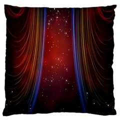 Bright Background With Stars And Air Curtains Large Cushion Case (One Side)